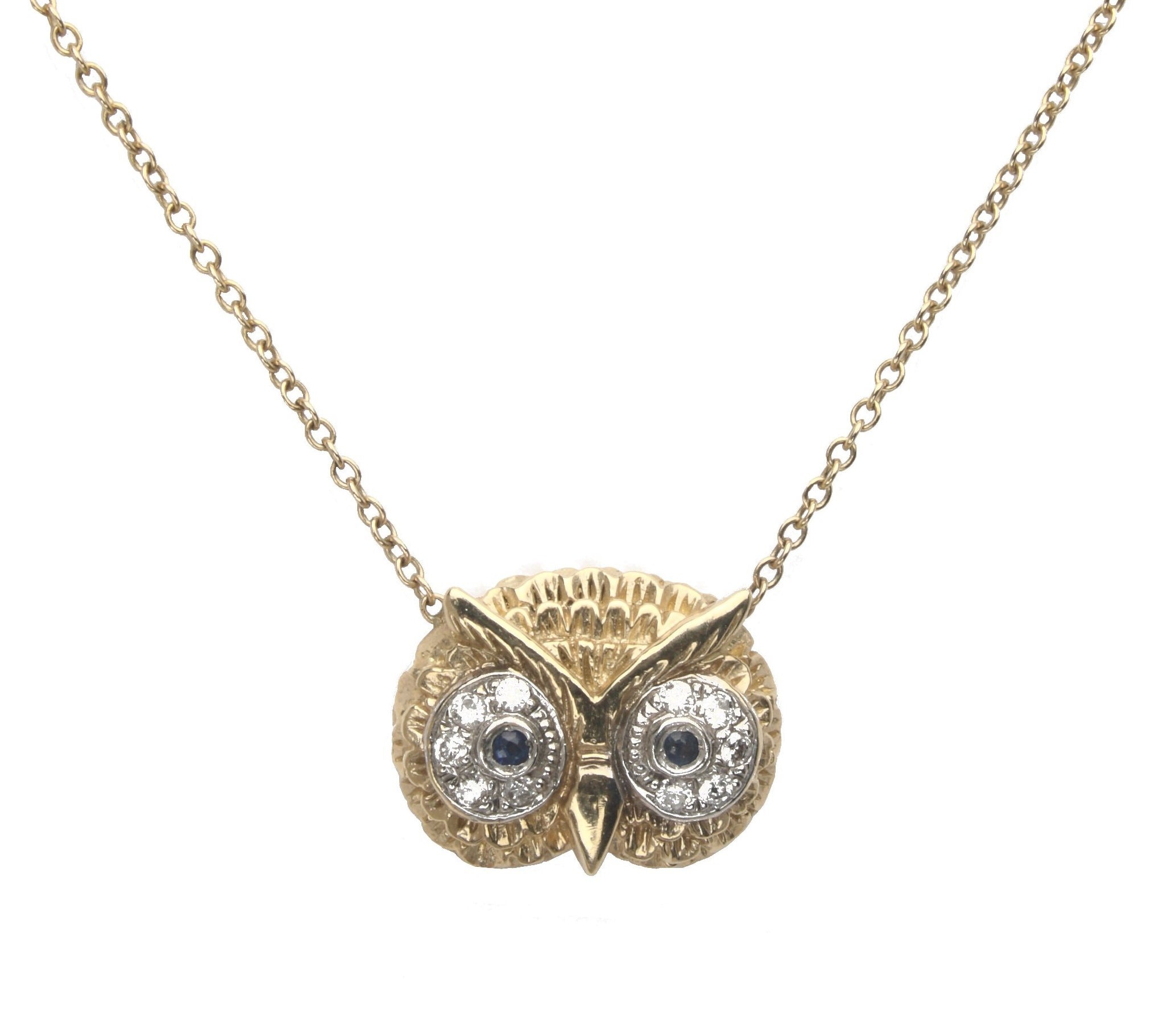 product jewellery silver pendant owl by prey