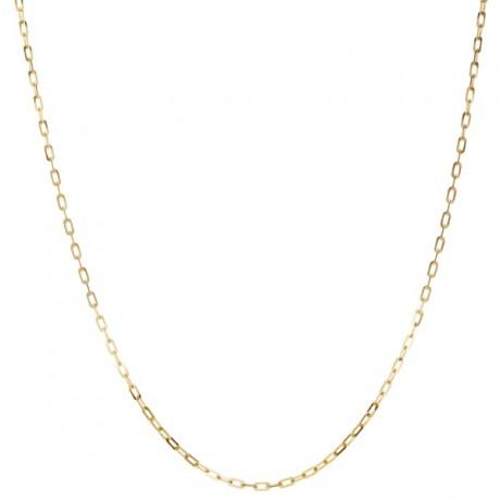 Gold Elongated Rectangular Link Necklace