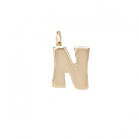 Petite Gold Initial Charm