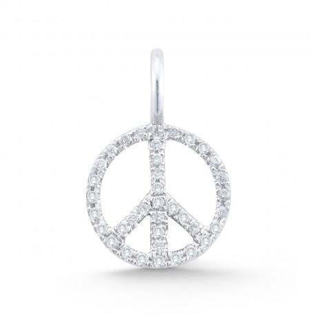 Mini Diamond Peace Sign Charm