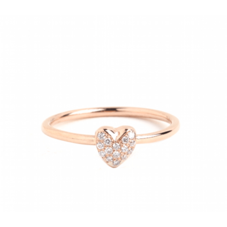Diamond Heart Stacking Ring